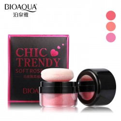 Румяна рассыпчатые BIOAQUA chic trendy soft rose blush, тон Peach color, 1 шт
