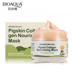 Ночная коллагеновая маска для лица и шеи BIOAQUA Pigskin Collagen Nourishing Mask, 100 г
