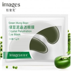 Патчи под глаза Bioaqua Images Green Mung Bean Crystal Penetration Eye Mask с бобами мунг, 1 пара