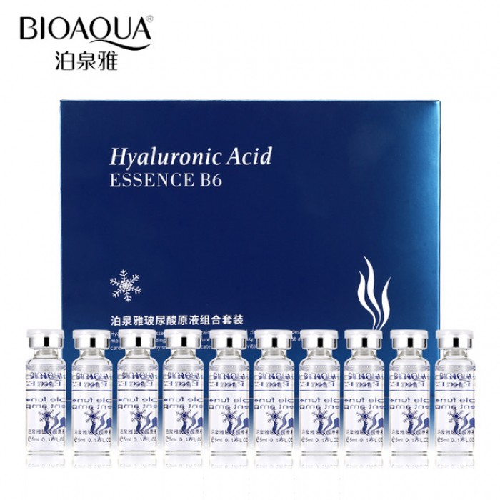 Гиалуроновая кислота BioAqua Hyaluronic Acid Essence B6, набор сыворот
